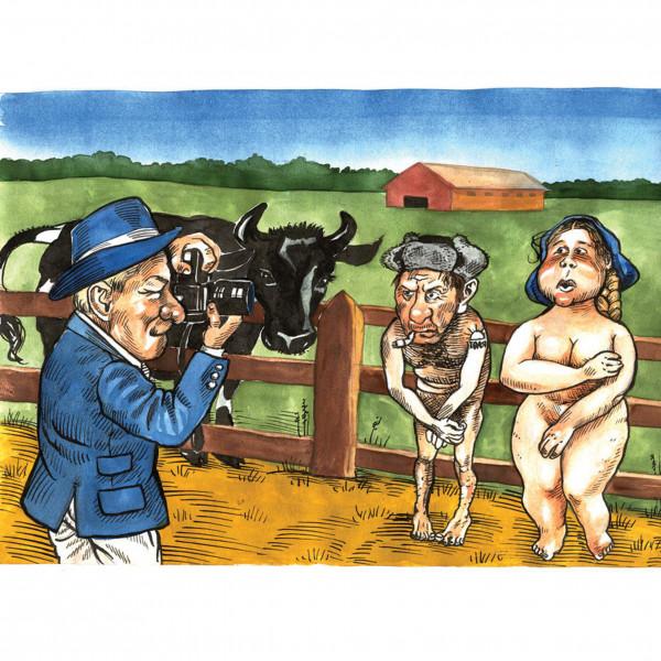 Карикатура: 2006 Заморский фотограф в Российской деревне, AZART