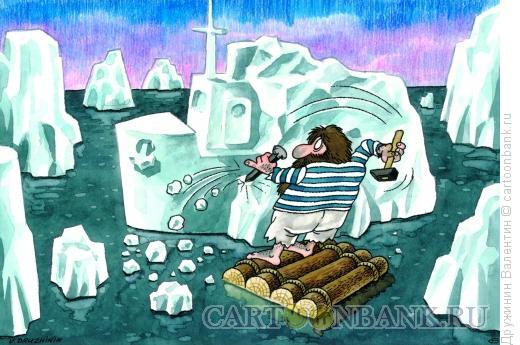 Карикатура: Голь на выдумки хитра, Дружинин Валентин