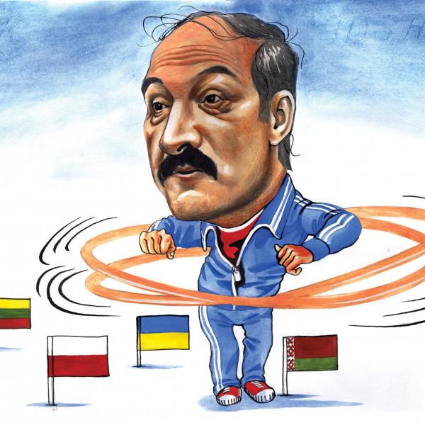 Карикатура: Лукашенко крутит шашни с ближним зарубежьем, AZART