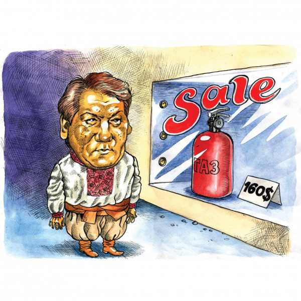 Карикатура: Президент Ющенко не успел на распродажу, AZART