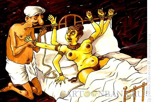 Карикатура: Секс с многорукой, Дружинин Валентин