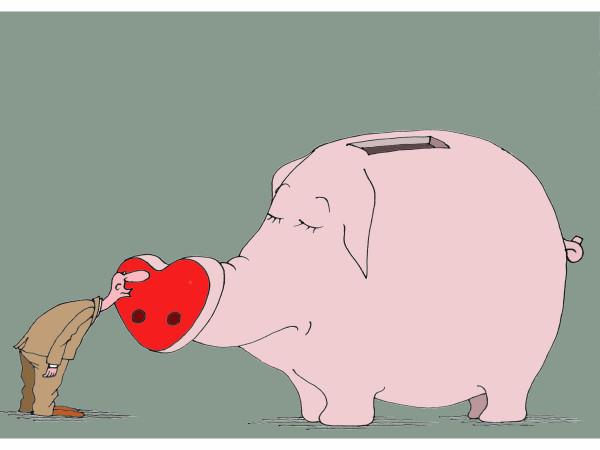 Карикатура: Люблю...., Михаил Ларичев