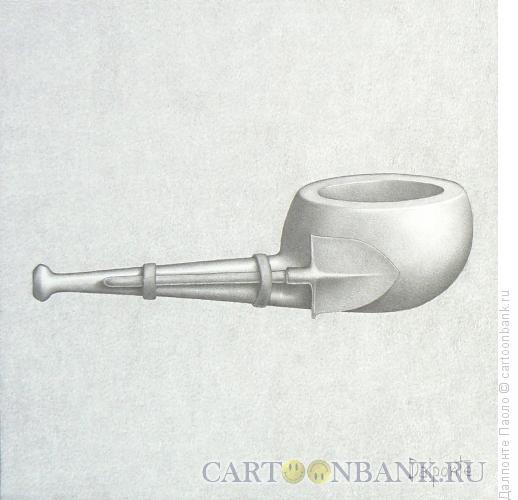 Карикатура: трубка с лопатой, Далпонте Паоло