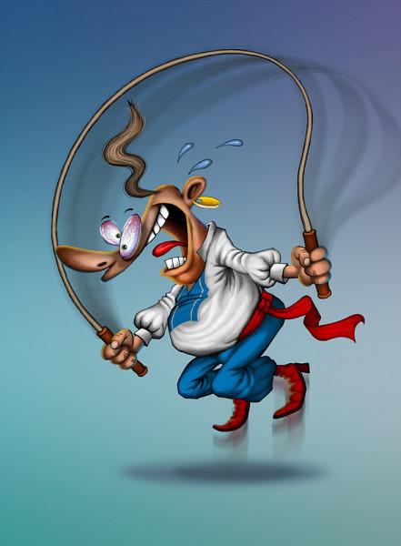 Карикатура: Скiчi Пiтро, скiчi!, Иванов Игорь