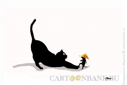 Карикатура: Мышь, сыр и Наполеон, Бондаренко Марина