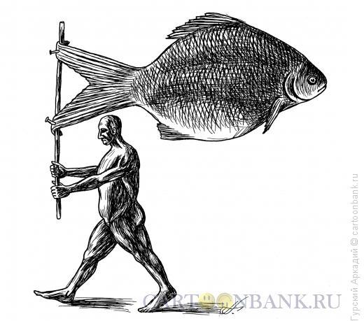 Карикатура: рыба-флаг, Гурский Аркадий