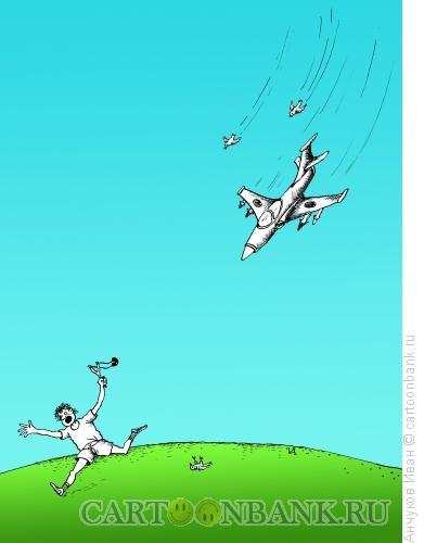 Карикатура: Авиация и птицы, Анчуков Иван
