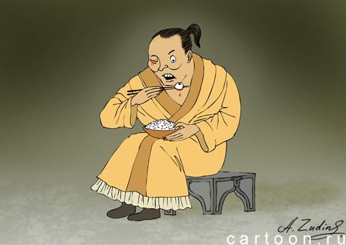 Карикатура: Черный юмор, Александр Зудин