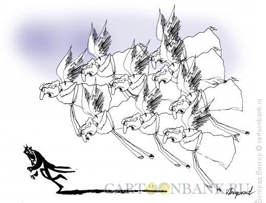 Карикатура: Преследование, Богорад Виктор
