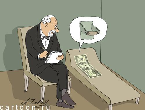 Карикатура: У психиатра, Александр Зудин