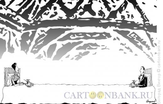 Карикатура: Утренний кофе в высшем свете, Богорад Виктор
