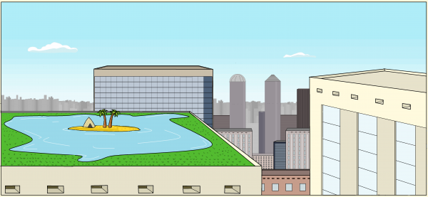 """Карикатура: Бюджетный отдых """"Городские джунгли"""""""