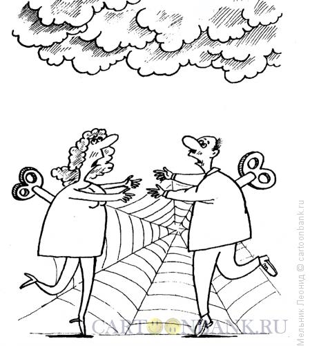 Карикатура: Механизм любви, Мельник Леонид