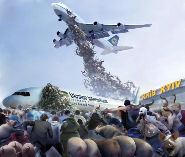 Карикатура: Эвакуация, Иванов Игорь