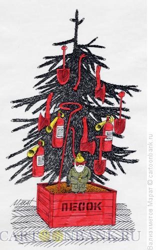 Карикатура: Противопожарная безопасность, Валиахметов Марат