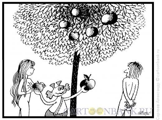 Карикатура: Древо познания, Сергеев Александр