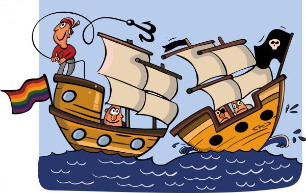 Карикатура: На абордаж, somnambula