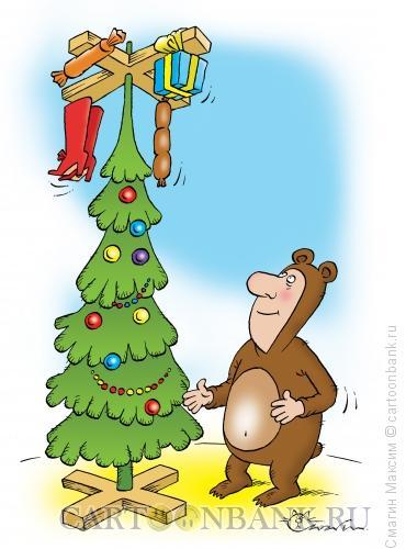 Карикатура: Новогодний сабантуй, Смагин Максим