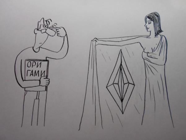 Карикатура: Женщина с покрывалом 15, Петров Александр