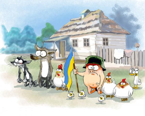Карикатура: На калiна перiд Украiноi!, Иванов Игорь