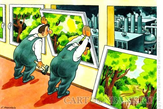 Карикатура: Витражи, Дружинин Валентин