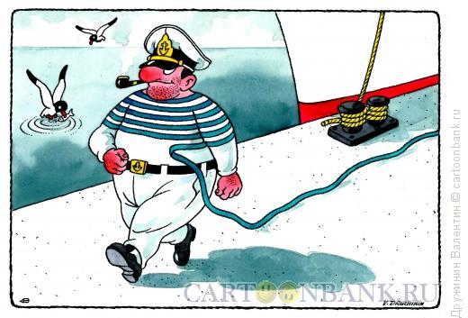 Карикатура: Моряк вразвалочку, Дружинин Валентин