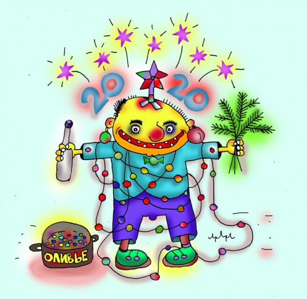 Карикатура: открыточко, leon2008