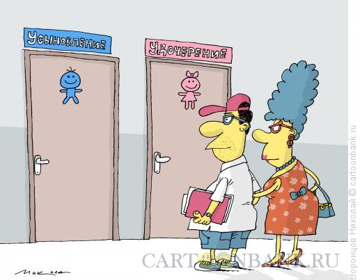 Карикатура: Усыновление, Воронцов Николай