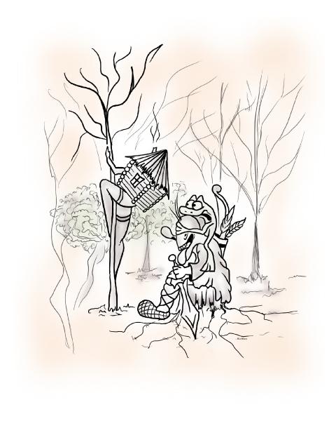 Карикатура: В темно- синем лесу, AlexKorn4870