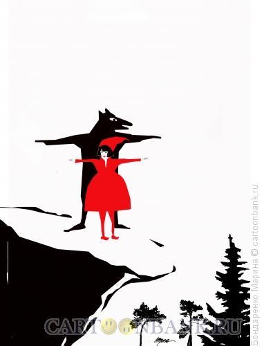 Карикатура: Титаник и Красная Шапочка, Бондаренко Марина