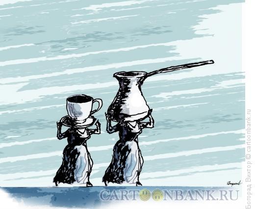 Карикатура: Кофейные женщины, Богорад Виктор