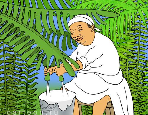Карикатура: Пальмовое масло, Александр Зудин