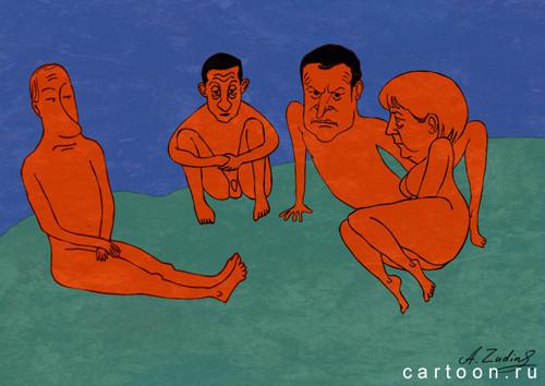 Карикатура: Нормандский формат, Александр Зудин