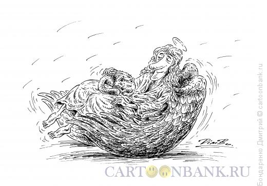 Карикатура: Крылья-качалка, Бондаренко Дмитрий