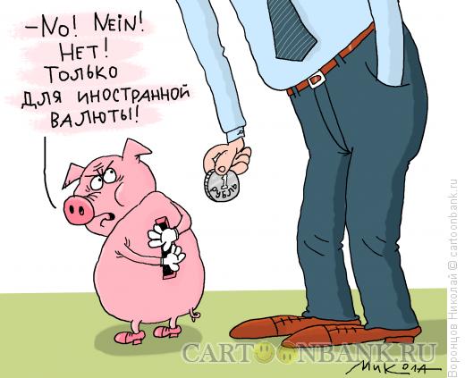 Карикатура: Только валюта, Воронцов Николай