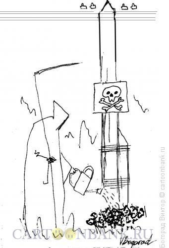 Карикатура: Уход за могилой, Богорад Виктор