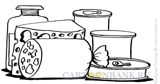 Карикатура: Прдукты питания, Мельник Леонид