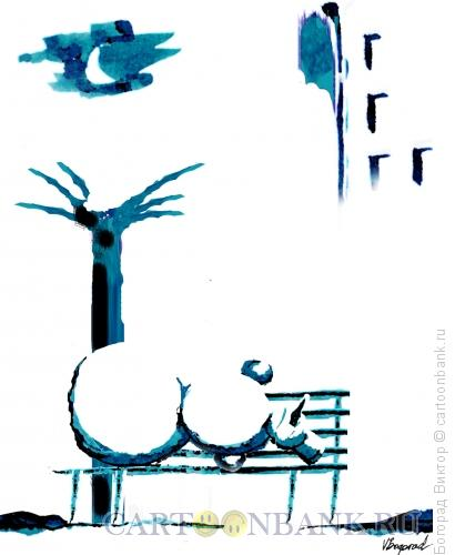 Карикатура: Бездомный снеговик, Богорад Виктор