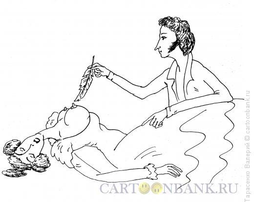 Карикатура: Мастер пера, Тарасенко Валерий