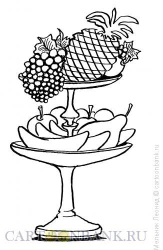 Карикатура: Праздничный стол, Мельник Леонид