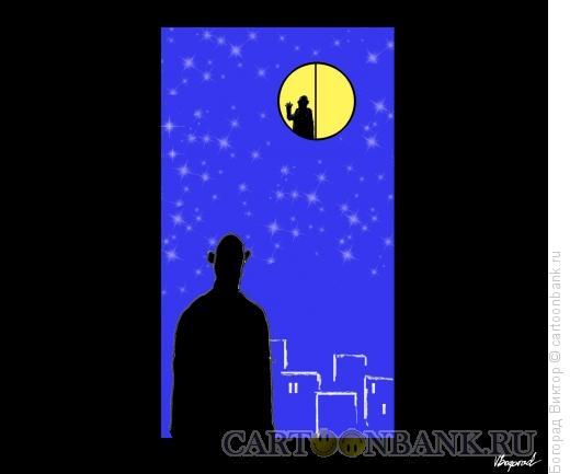 Карикатура: Ночное приветствие, Богорад Виктор