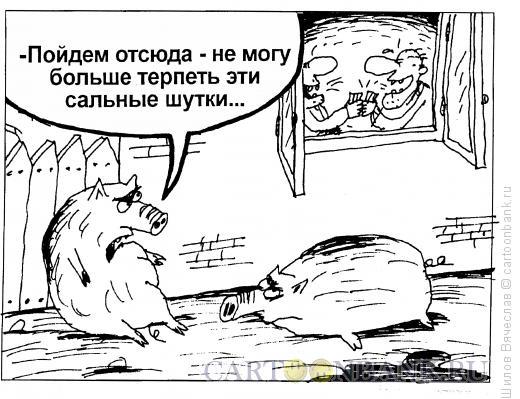 Карикатура: Сальный юмор, Шилов Вячеслав