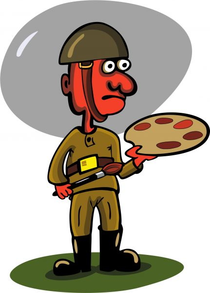 Карикатура: Военный художник, somnambula