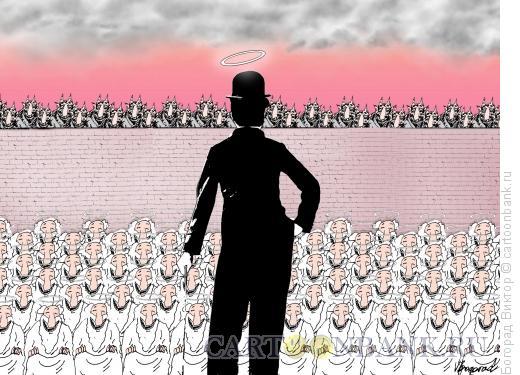 Карикатура: Выступление Чарли, Богорад Виктор