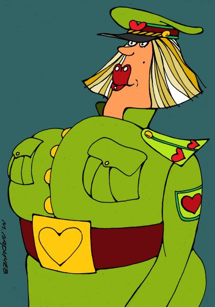 Карикатура: хочу в армию, михаил ларичев