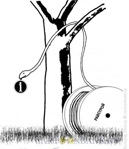 Карикатура: Кабельный интернет в раю, Богорад Виктор