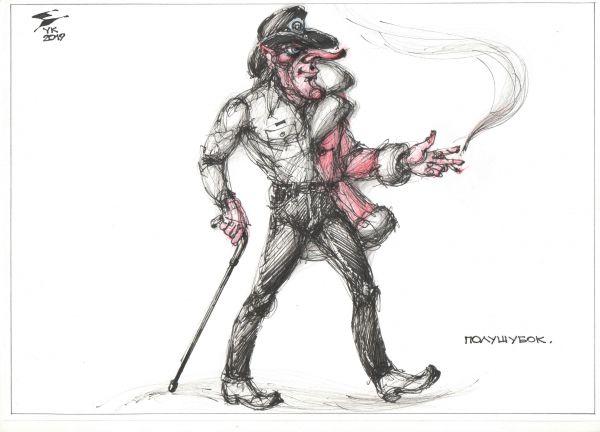 Карикатура: Полушубок ., Юрий Косарев
