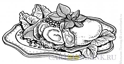 Карикатура: Сервировка праздничного стола, Мельник Леонид