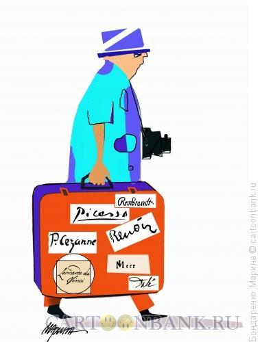 Карикатура: Турист наклейки Автографов, Бондаренко Марина