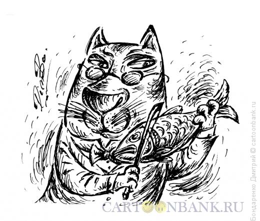 Карикатура: Рыбка Страдивари, Бондаренко Дмитрий